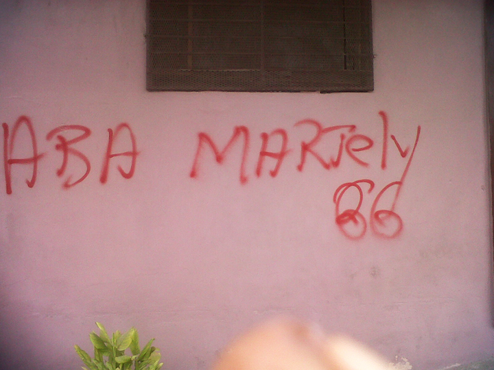 Down with Martelly graffiti in Port-au-Prince [Haiti Action]