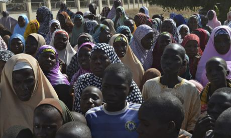 Relatives of Kidnapped Girls [Source: TheGuardian.com]